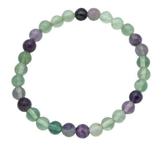 Bracelet Fluorite vert/violet | Perles de 6 mm