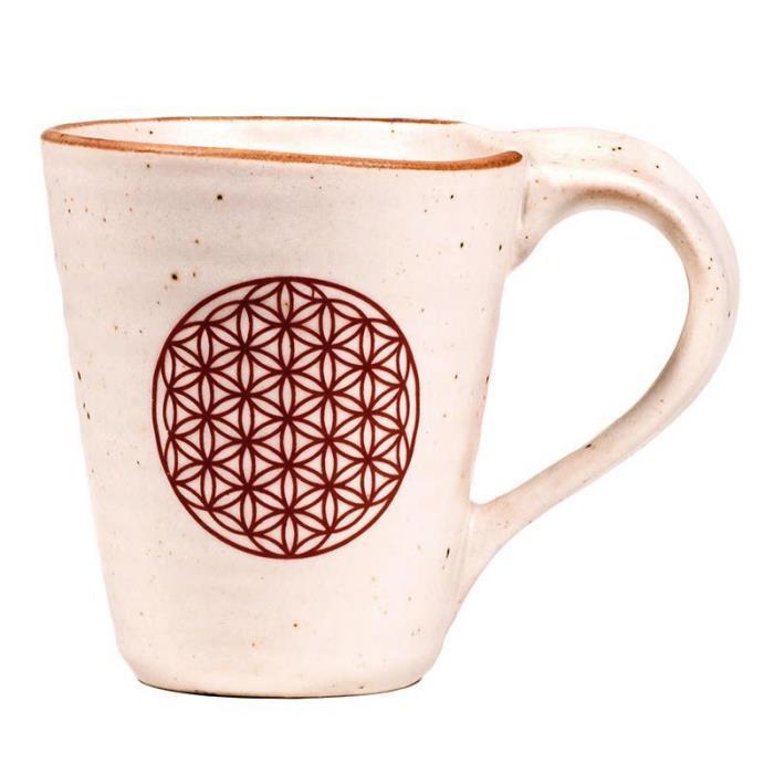 Mug thé et café motif Fleur de Vie