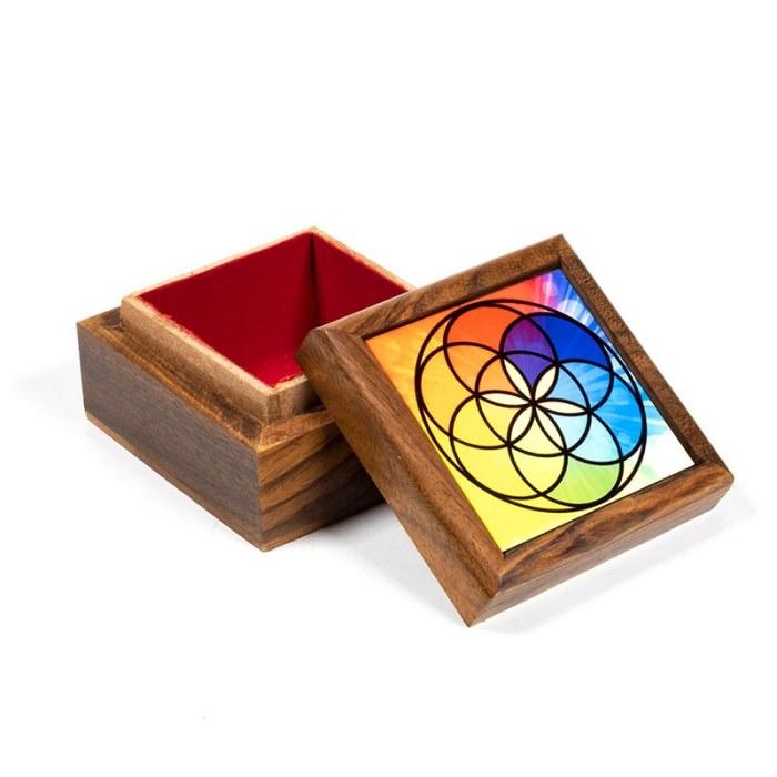 Boîte à bijoux Graine de Vie | 6,5 x 6,5 cm