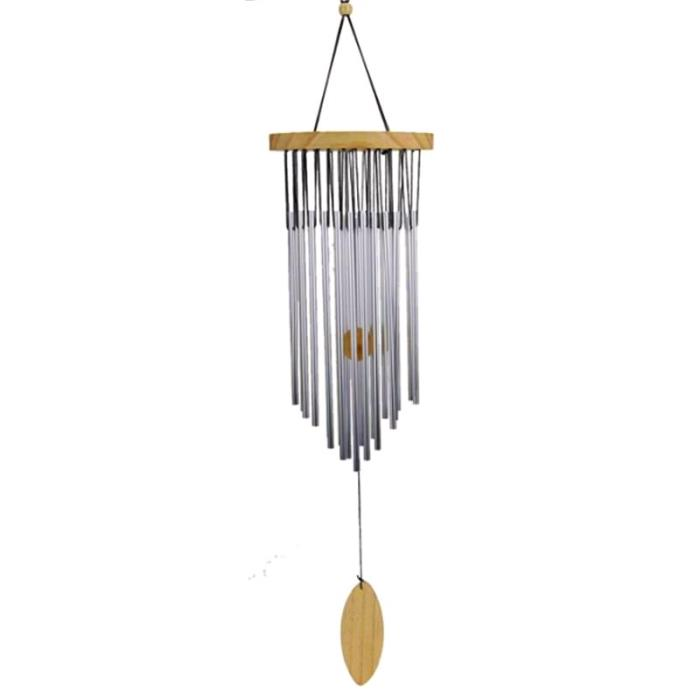 Carillon à vent 22 tubes métalliques | Hauteur 73 cm