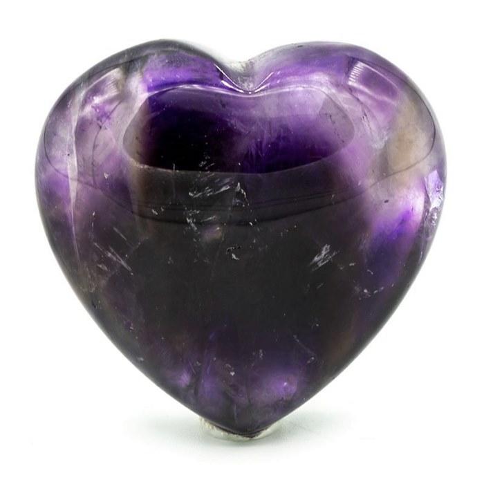 Améthyste en forme de cœur | 3 cm