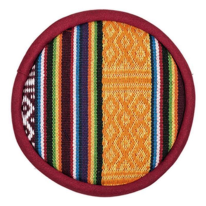 Coussin pour bol chantant tibétain Ethnique | diamètre 15,5 cm