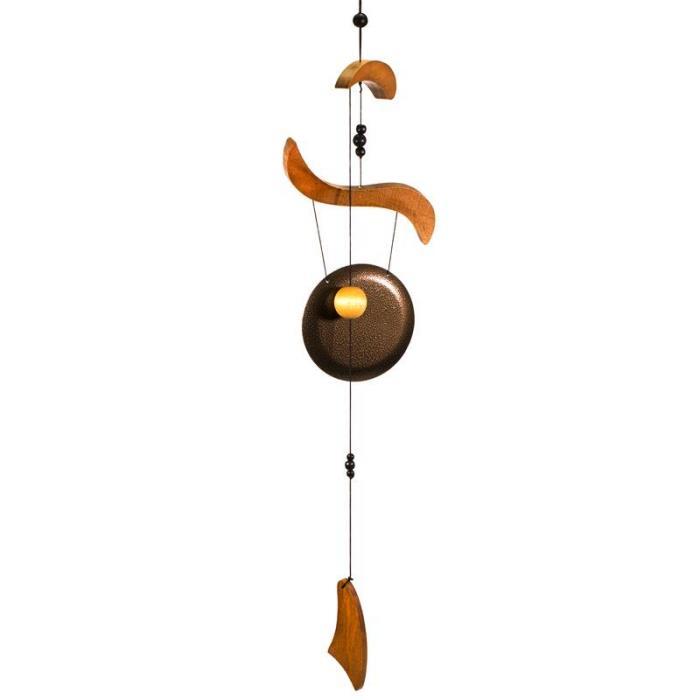 Carillon à vent avec un gong Feng Shui | Hauteur 70 cm