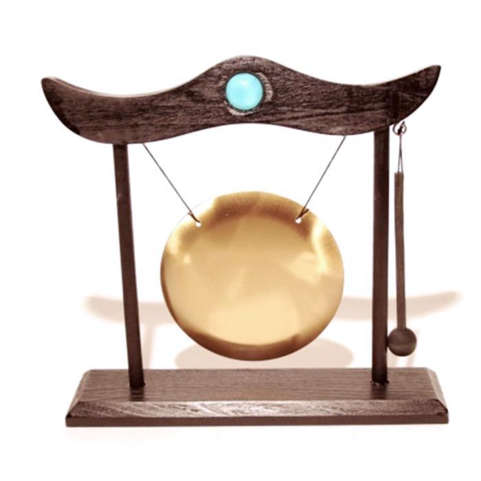 Petit gong de table et son heurtoir | Structure en bois