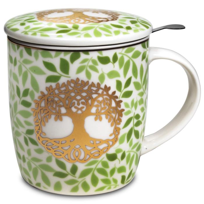 Mug et Infuseur à thé motif arbre de vie