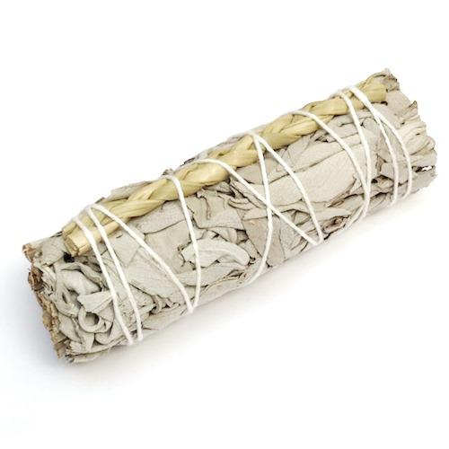 Fagot de fumigation sauge blanche - foin d'odeur | 10 cm