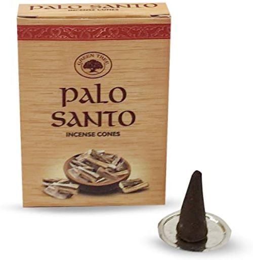Encens Green Tree cônes Palo Santo | Boîte de 10 cônes