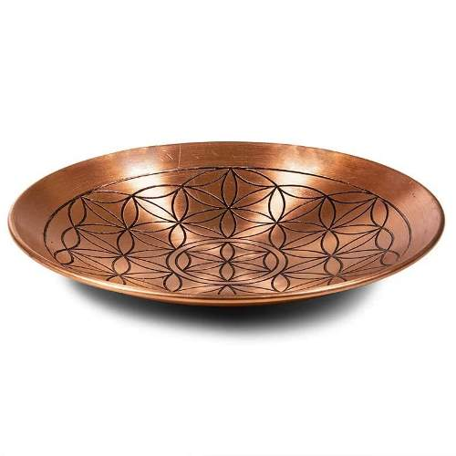 coupelle-assiette-cuivre-symbole-motif-fleur-de-vie
