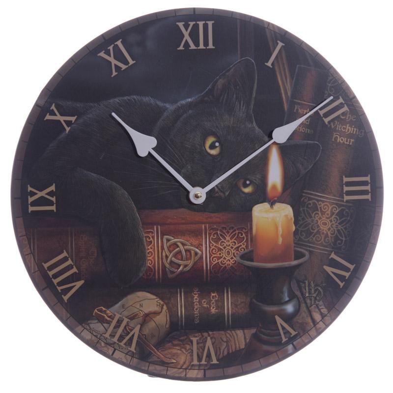 Horloge imprimée - Chat Sorcier par Lisa Parker