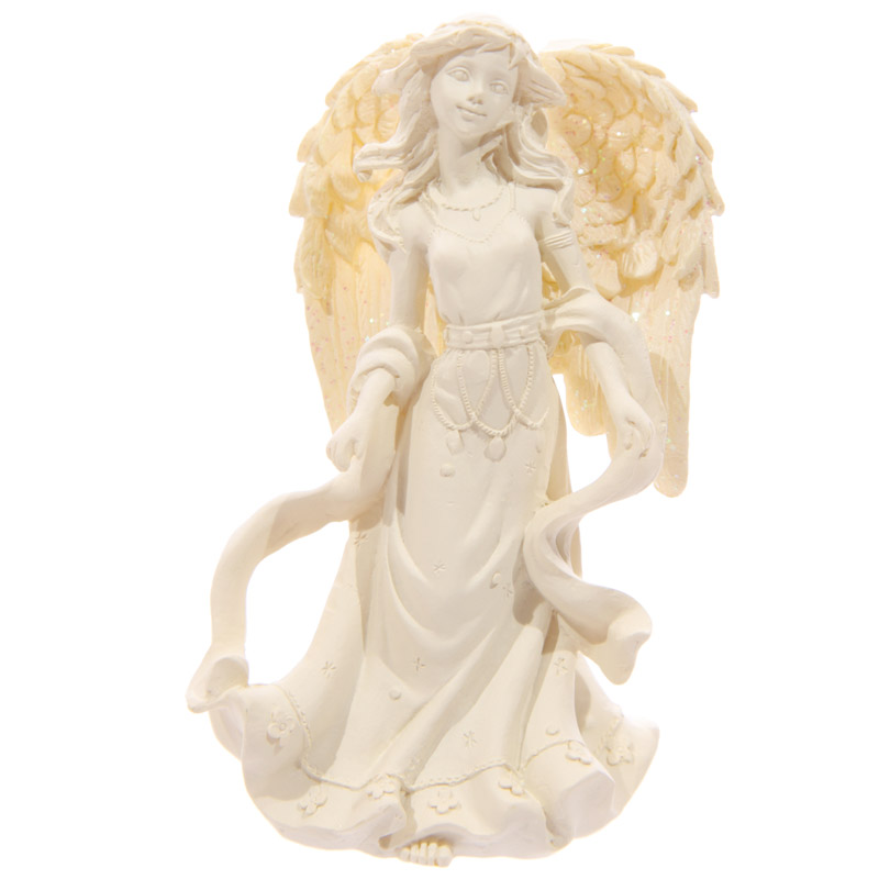 Figurine Ange debout Crème 10cm Modèle A