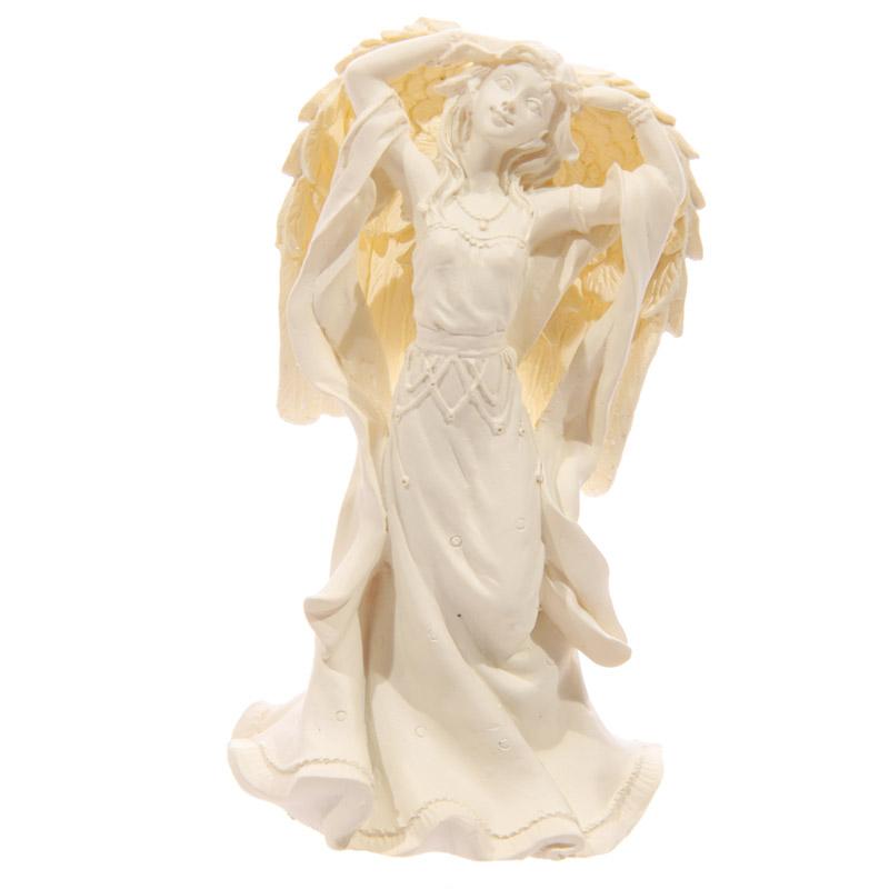 Figurine Ange debout Crème 10cm Modèle B