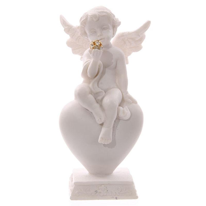 Chérubin assis sur cœur et boule dorée Modèle B
