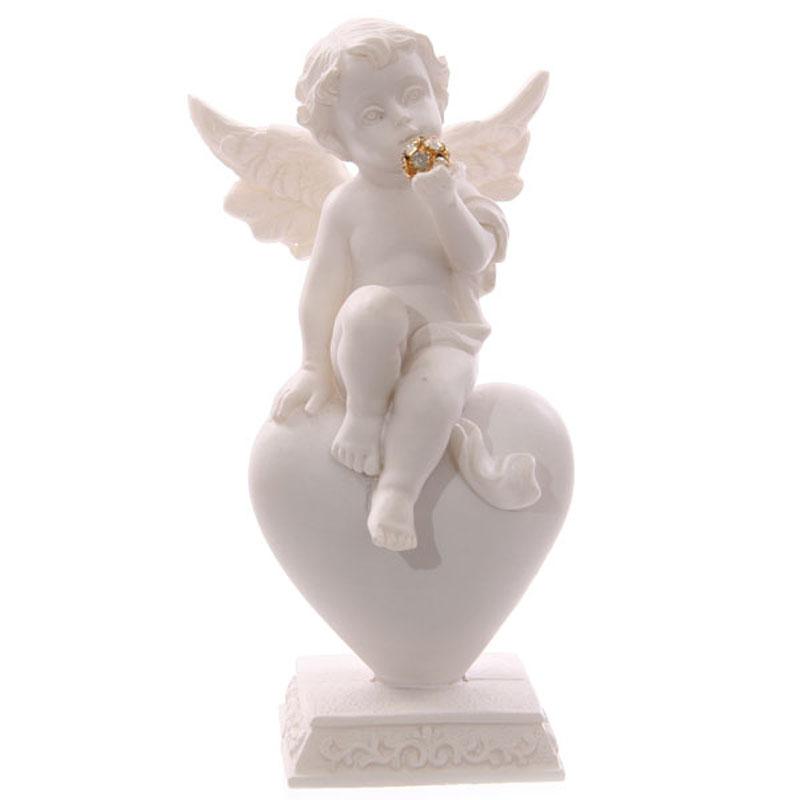 Chérubin assis sur cœur et boule dorée Modèle C