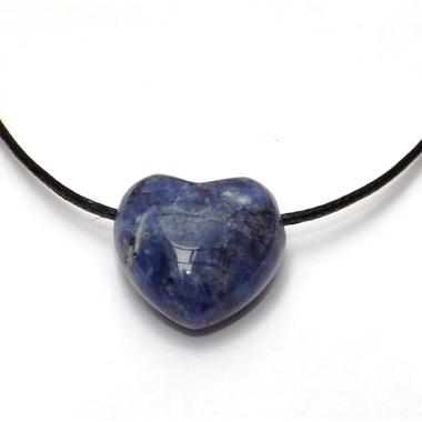 Pendentif Coeur Sodalite ( 2,5 cm )  39704 (1)