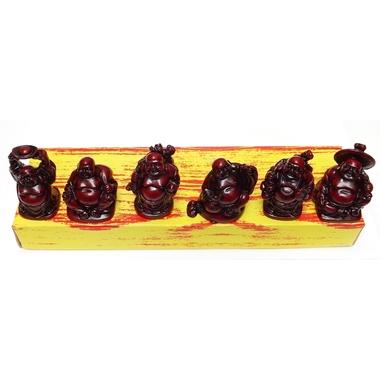 Bouddhas Rouges Petits ( Lot de 6 )  8288 (3)