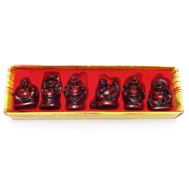 Bouddhas Rouges Petits ( Lot de 6 )  8288 (4)