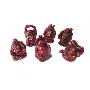 Bouddhas Rouges Petits ( Lot de 6 )  8288 (5)
