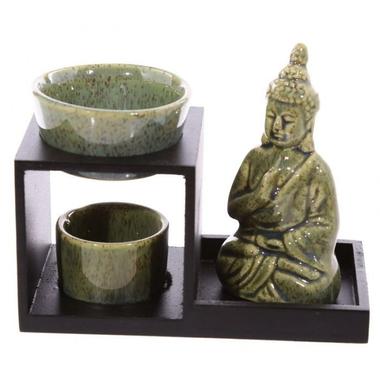 Brûleur à huile Bouddha ( vert )  OB236-B (1)