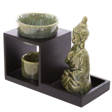 Brûleur à huile Bouddha ( vert )  OB236-B (2)