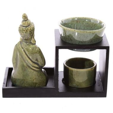 Brûleur à huile Bouddha ( vert )  OB236-B (3)
