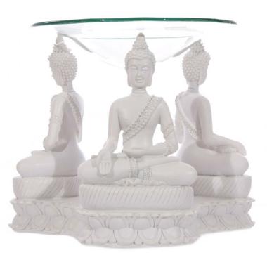 Bouddha Thailandais Blanc - Brûleur A Huile (1)
