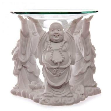 Bouddha Pu-tai Blanc - Brûleur A Huile  BUD183 (1)