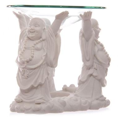 Bouddha Pu-tai Blanc - Brûleur A Huile  BUD183 (3)