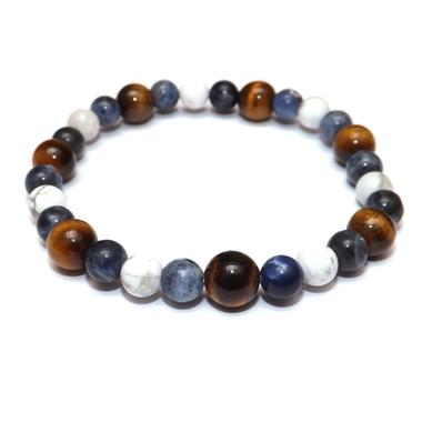 Bracelet Hoya Oeil de Tigre - Sodalite - Howlite (1)