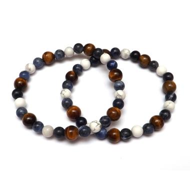 Bracelet Hoya Oeil de Tigre - Sodalite - Howlite (2)