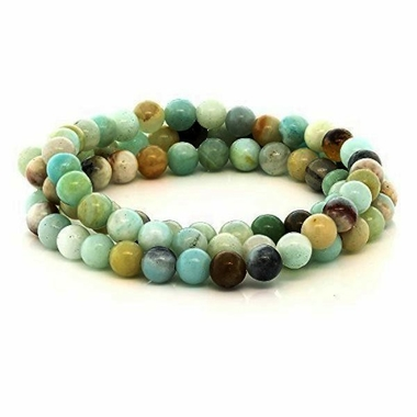 Bracelet Amazonite Perles Rondes (6 mm) (1)