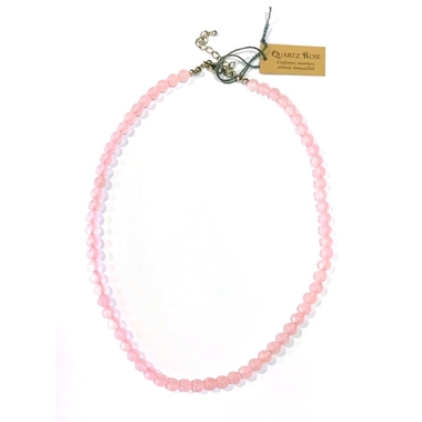 Collier Quartz Rose - perles 6 mm (1)