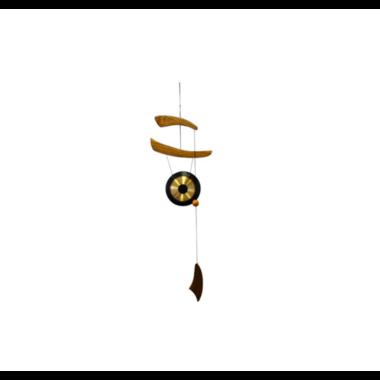 Carillon Gong Empereur Bois de Pin et Bronze