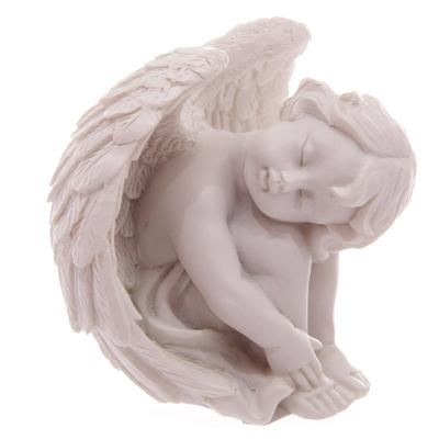Ange Blanc Tête sur Genoux - 6 cm ( A )