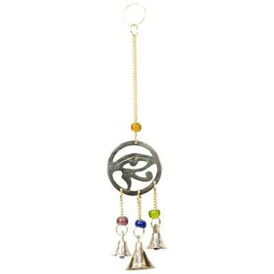 Mobile 3 Cloches - Oeil d'Horus en laiton