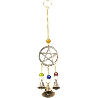 Mobile 3 Cloches - Pentagramme en laiton