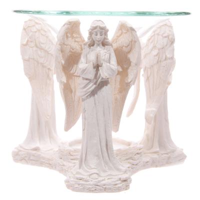 Brûleur à Huile Figurine d'Ange Blanc Priant