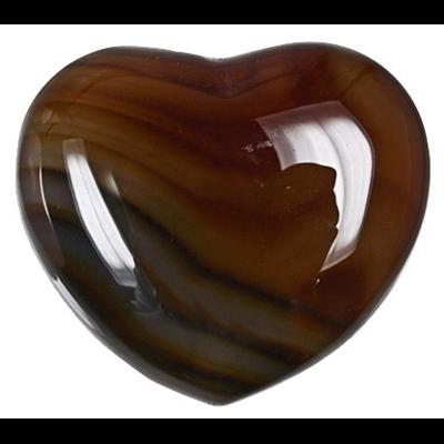 Coeur Cornaline 45 mm - La pièce