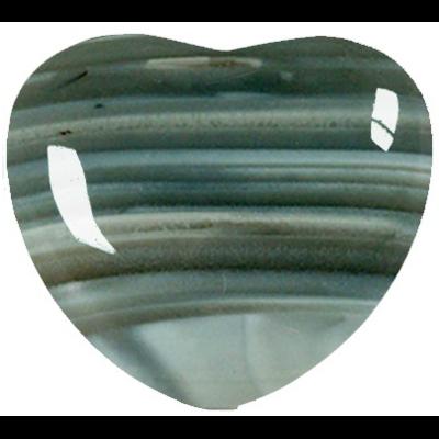 Coeur Agate brune 45 mm - La pièce