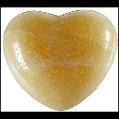 Coeur Calcite orange 45 mm - La pièce