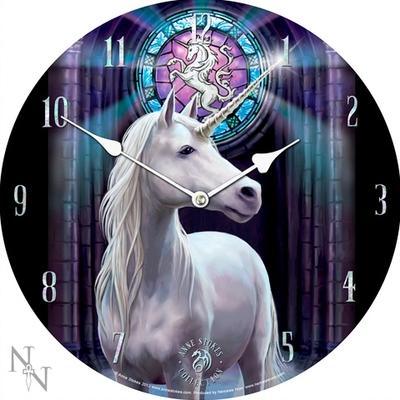 Horloge imprimée - Licorne par Anne Stokes