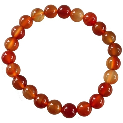 Bracelet Cornaline Perles Rondes (8 mm)