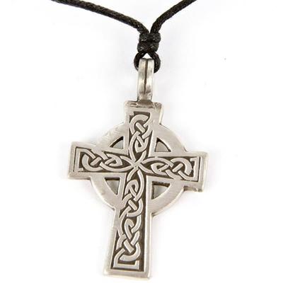 Pendentif Croix Celtique Etain - B