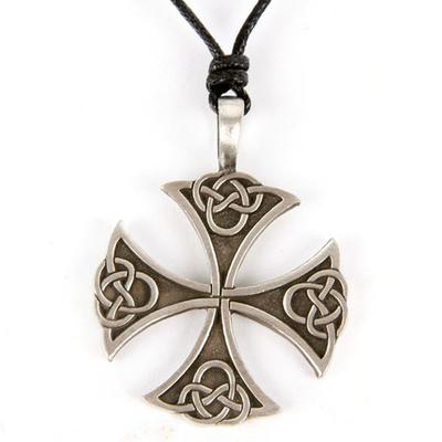 Pendentif Croix Celtique Etain - E
