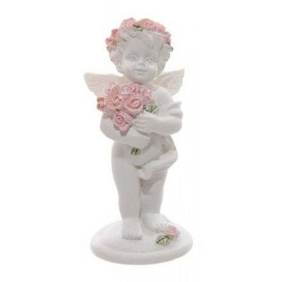 Chérubin tenant un bouquet de roses (B)