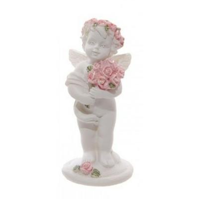 Chérubin tenant un bouquet de roses (C)