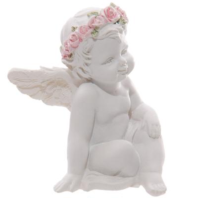 Chérubin assis avec un bouquet de roses (D)