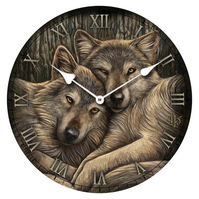 Horloge Imprimée - Compagnons loyaux par Lisa Parker