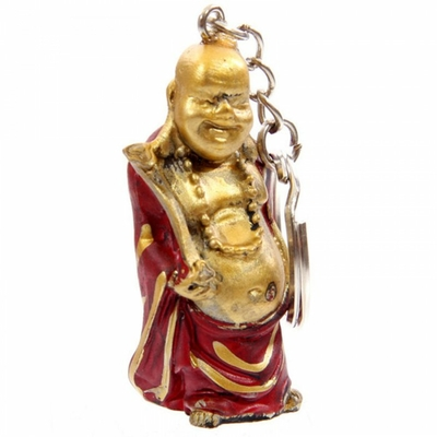 Porte-clefs Bouddha souriant (C)