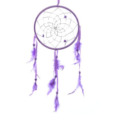 Attrape–rêves en Plumes, Rubans Violet 15 cm