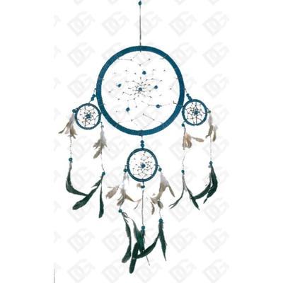 Dreamcatcher 4 cercles Bleu ( Moyen - 16 cm )